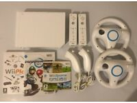 Nintendo Wii White + Mario Kart, Sports & Play - 15 games, 2x Controllers & 1 Years Warranty