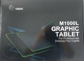 Ugee M1000L 10 x 6 Inch Graphic Drawing Tablet with 8 Hotkeys (Black)
