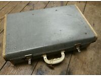 Vintage Black White Cream Suitcase Wedding Party Prop Storage Display