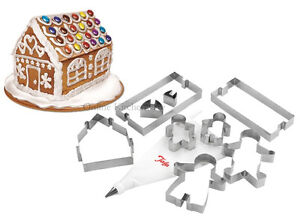 Tala Gingerbread House Family Cookie Cutter Baking Set