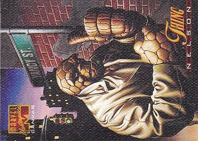 1995 Marvel Masterpiece  Canvas Card #21-The Thing  vf/nm