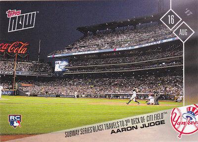 Aaron Judge Yankees Rookie 2017 Topps Now 487 Subway Series Blast Citi Field Rc