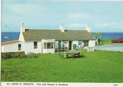 At John O Groats The Last House In Scotland Postcard 473a