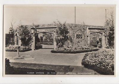 Kensington Arch (Tudor Arches Derry Gardens Kensington London RP Postcard 155b)