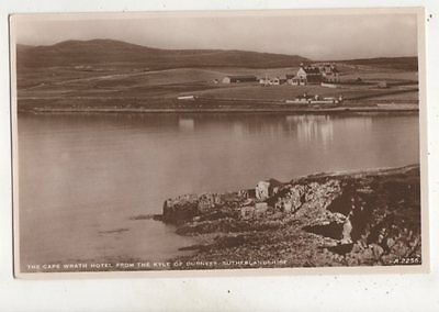 Cape Wreath Hotel From Kyle Of Durness Sutherland Vintage RP Postcard 647b
