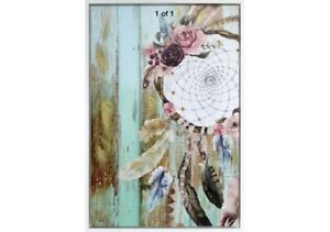 Boho Dream Catcher Luxe Framed Painting Print Canvas Floral Wall Art Camp Hill Brisbane South East Preview