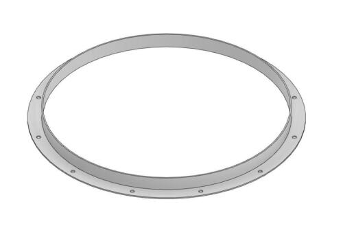 """24"""" Diameter Angle Iron Mounting Flange - Made in USA"""