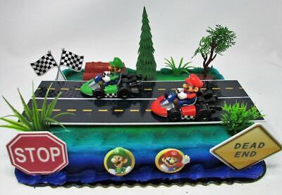 Mario Kart Birthday (Go-Kart Racing Mario Kart 12pc Birthday Cake Topper Set Featuring)