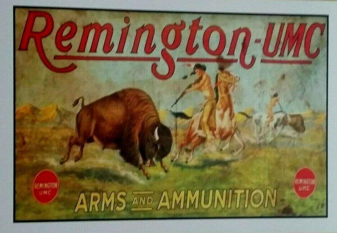 Remington - UMC Poster - Rifles - Ammunition - Wild West - Indians - Guns - Ammo - $7.99