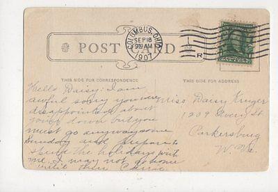 Miss Daisy Kruger Avery Street Parkersburg West Virginia USA 1907  764a