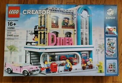 LEGO 10260 Creator Expert Downtown Diner Modular Building  Brand New Sealed Mint