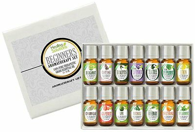 Healing Solutions Beginners Aromatherapy Essential Oil Kit  Pack Of 14 10Ml