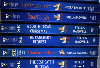 7 Silhouette Romance Novels by Stella Bagwell, paperback (Men of the West) (Stella Bagwell Men Of The West Series)
