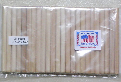 24 Dop Sticks small/med cabs lapidary tool Made in U.S.A. to use with Dop Wax