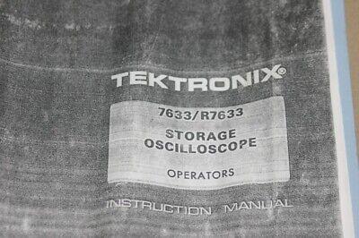 Tektronix 7633r7633 Storage Oscilloscope Instruction Guide Operating Manual
