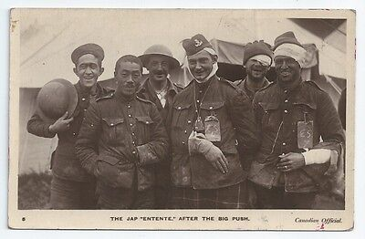 WW1 CEF 16th Battalion Canadian Scottish Japanese Soldiers Unused RP PC