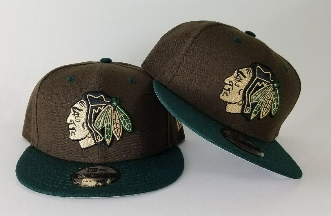 ccd805bcd17 New Era Beef   Broccoli Color Chicago Black Hawks 9Fifty Snapback ...