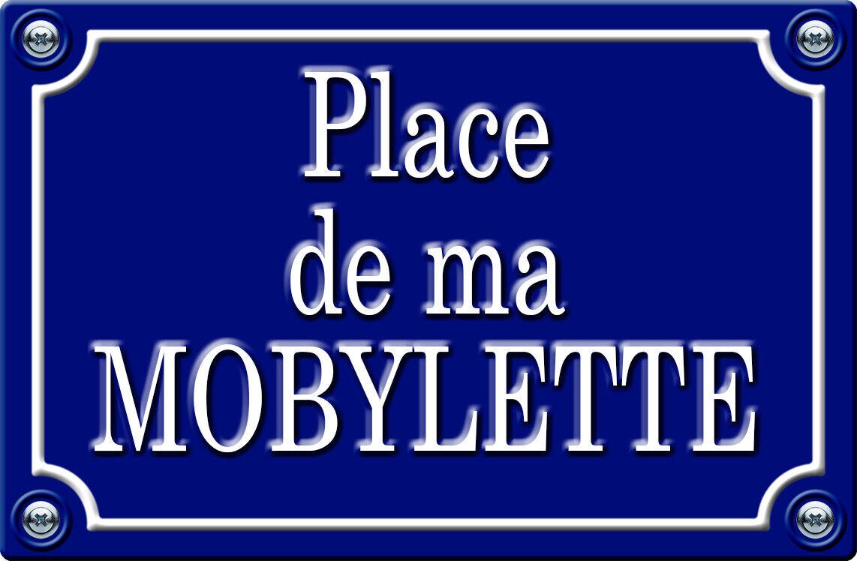 PLAQUE DE RUE POUR MA MOBYLETTE 29cm