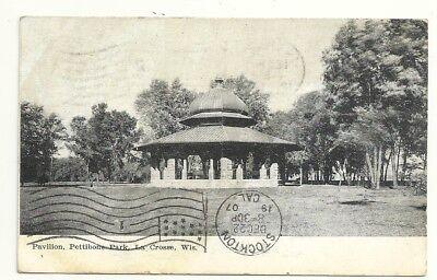 Postcard Pettibone Park Pavillion La Crosse WI  1907, used for sale  Stockton