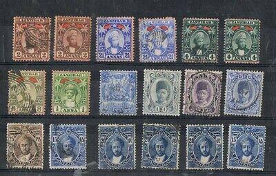 ZANZIBAR - Lot of old stamps