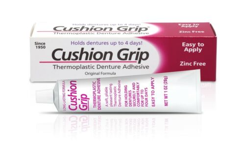 Cushion Grip - Soft Pliable Thermoplastic to Refit Dentures 1 Oz (28 grams)