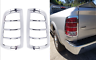 Pair Chrome Tail Light Covers For 2009-2018 Dodge Ram Trucks New Free Shipping