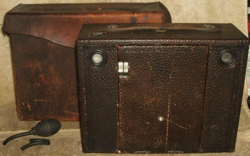 Circa 1898 Kodak No. 4 Cartridge Camera with Leather Case