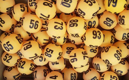 Raffle Balls Numbered 1-100