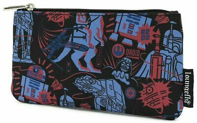 Official Loungefly Star Wars Empire Pencil Case Makeup Bag Pouch New