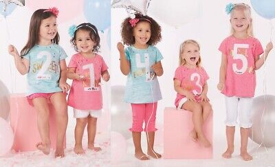 Mud Pie Birthday Girl Celebration Tunic with Sequins and -