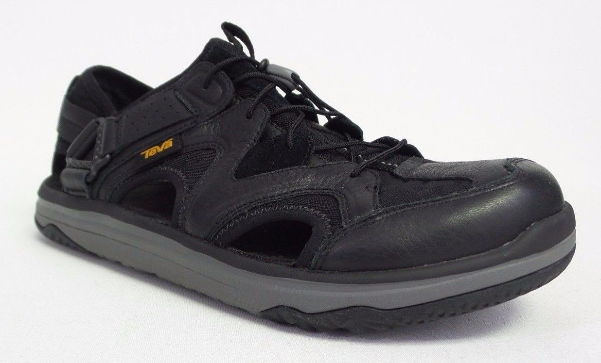 Teva Terra-Float Travel Lace - Men's Leather Sandals/Water Shoes - Black 1018739
