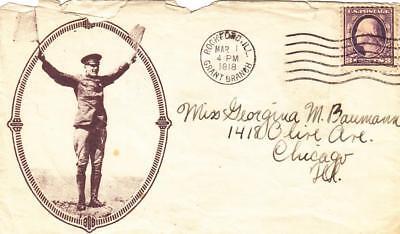 1918, AEF: Patriotic Envelope, Rockford, IL (M1579)