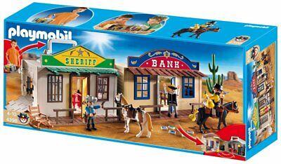 Playmobill 4398 WESTERN OESTE BANCO Y OFICINA SHERIFF TRANSPORTABLE NUEVO