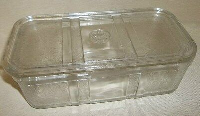 Vintage Clear Glass GE Refrigerator Dish With Lid (1283)