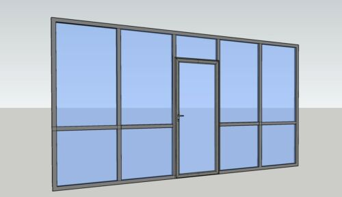 CGP Office Partition System, Glass Aluminum Wall 17