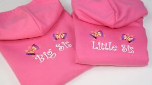 Personalised-Embroidered-Girls-Big-Little-Sister-Pink-Hoodie-Any-Text-Crystals