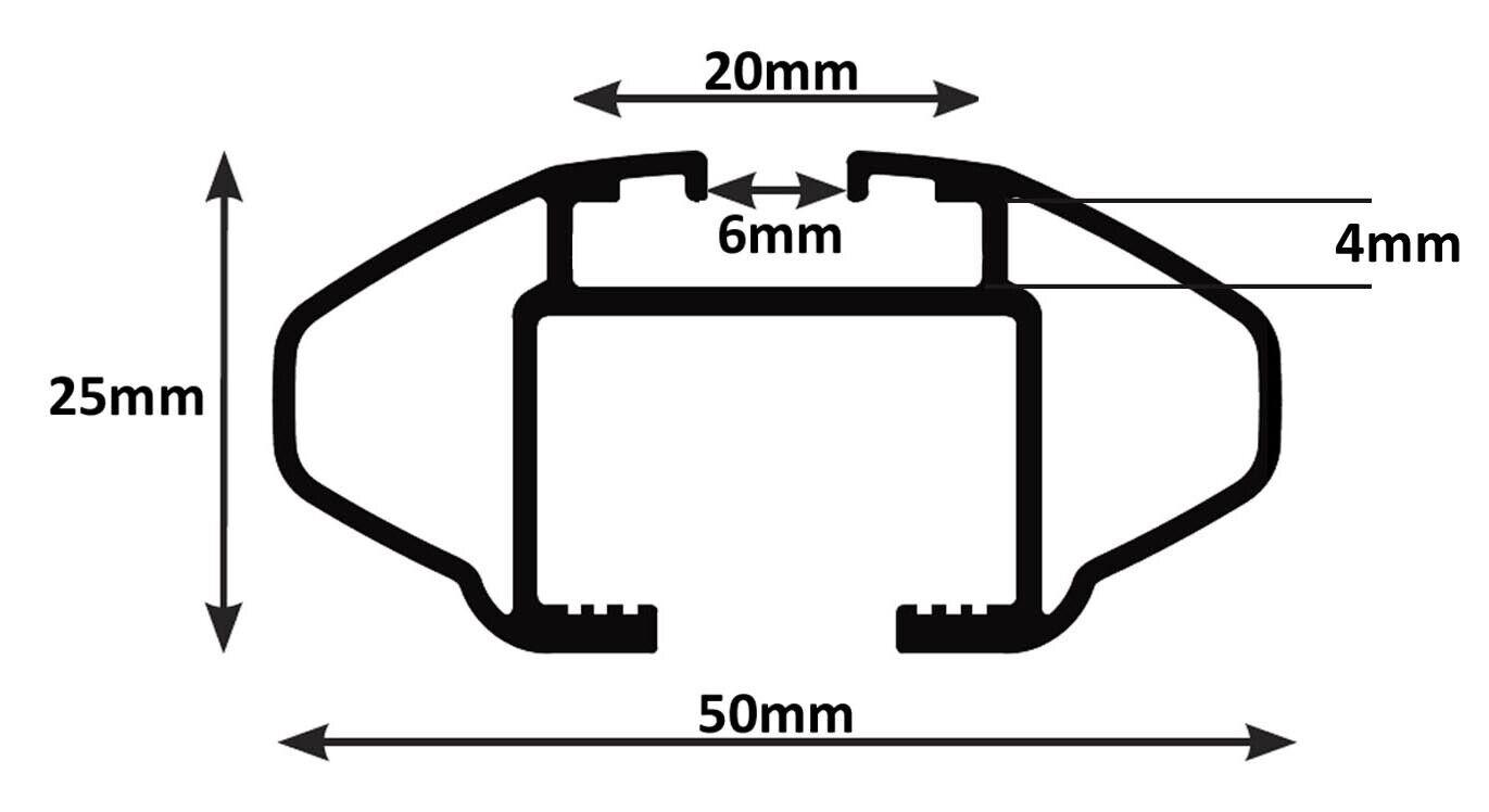 Dachbox MAA320L mattDachträger CRV120A für Audi A6 SW C7 5Türer ab 11