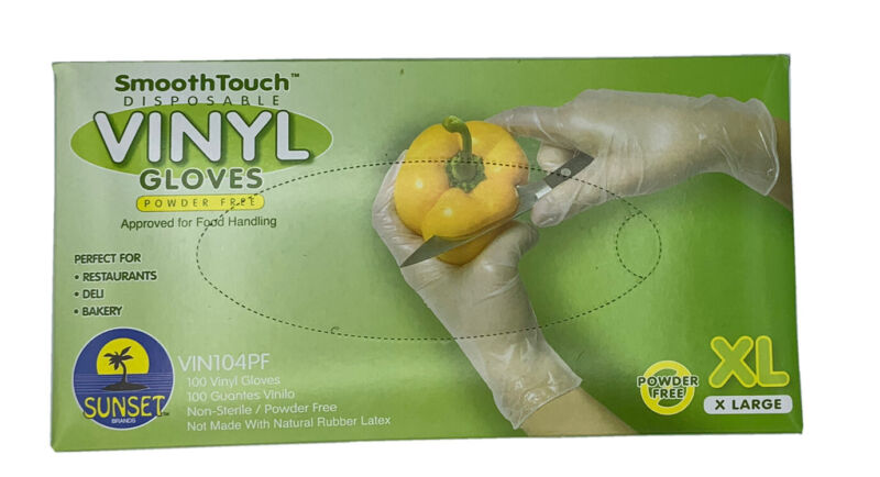 SmoothTouch Vinly Gloves XL 100 Count
