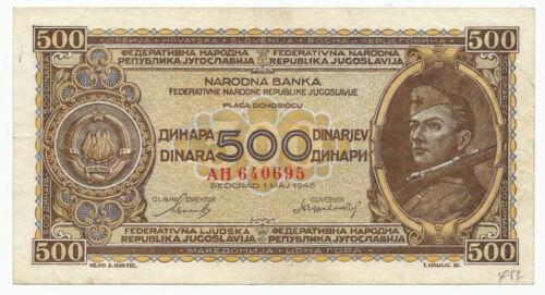 Yugoslavia - 500 Dinara 1946. P66a (Y055)