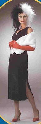 DISNEY STORE 101 Dalmatians CRUELLA Fancy Dress Women COSTUME - 101 Dalmatians Costumes Adults
