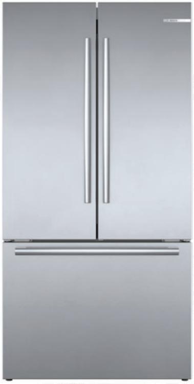 "Bosch B36CT80SNS 800 Series 36"" Smart French Door Refrigerat"