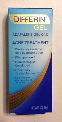 New Differin Adapalene Gel 0.1% Acne Treatment 0.5 Oz.