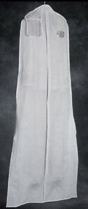Wedding or Prom Gown Garment Bag - Vinyl, Opac, Wide bottom, Zip
