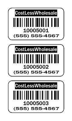 5000 Labels 1.5 X 1 Inventory Or Retail Barcode Stickers Labels Upc Stickers