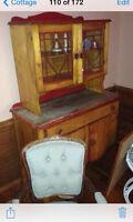 Antique retro hutch