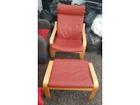 ikea chair and foot stool great condition