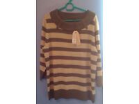 PROFILE jumper Brand new size 18 dark brown and beige £10