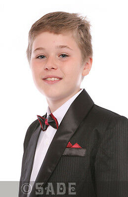 Jungen Schickes Kostüm Schwarz Smoking James Bond Abiball Kreuzfahrt Alter 10 ()