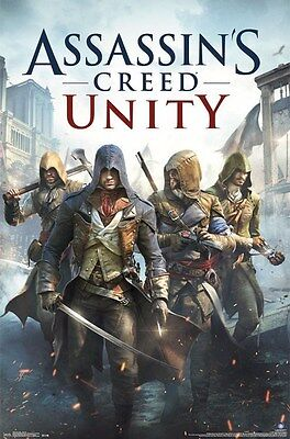 ASSASSIN'S CREED UNITY ~ COVER 22x34 Video Game POSTER Arno Dorian](Assassin's Creed Unity Arno)