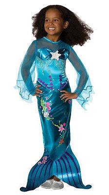 Little Blue Mermaid Kostüm für Kinder NEU - Mädchen Karneval Fasching (Mädchen Blue Mermaid Kostüme)